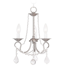 Livex Lighting Pennington Brushed Nickel Crystal Chandelier
