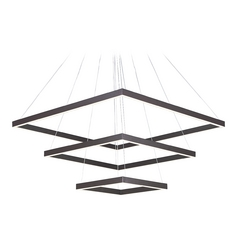 Quad Bronze LED Pendant Light