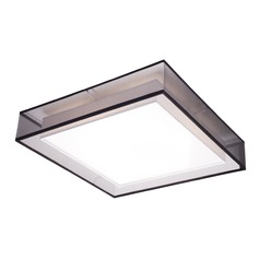 Modern Black LED Flushmount Light with White Inner Shade 3000K 2742LM