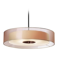 Pendant Light With Metal Drum Shade