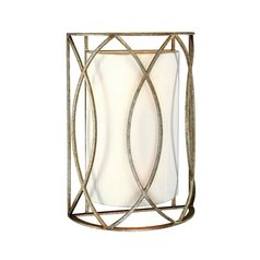 Sconce Wall Light with White Shades in Silver Gold Finish