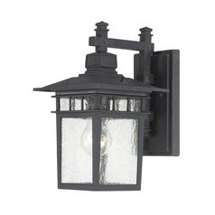 Seeded Glass Outdoor Wall Light Black Nuvo Lighting
