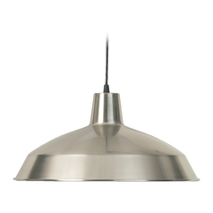 Barn Light Satin Nickel 16-inch Wide by Quorum Lighting