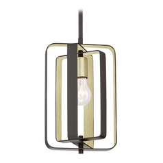 Transitional Pendant Light Bronze Cycle by Quoizel Lighting
