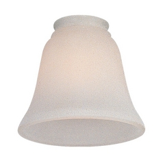 White Bell Glass Shade - 2-1/4-Inch Fitter Opening