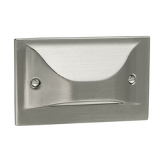 Progress Lighting Progress LED Recessed Step Light in Brushed Nickel Finish P6832-09