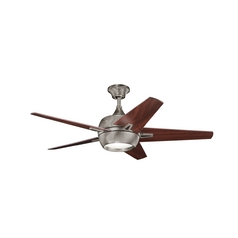 Kichler Lighting Makoda Burnished Antique Pewter Ceiling Fan with Light