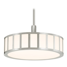 Sonneman Lighting Capital Polished Nickel LED Pendant Light with Drum Shade