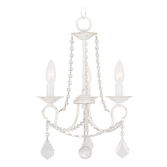 Livex Lighting Pennington Antique White Crystal Chandelier