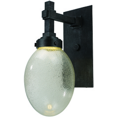 Mid-Century Modern LED Outdoor Wall Light Iron Ore Pike Place by Maxim Lighting
