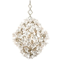 Corbett Lighting Lily Enchanted Silver Leaf Pendant Light