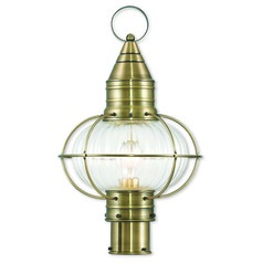 Livex Lighting Newburyport Antique Brass Post Light