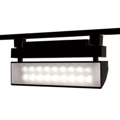 WAC Lighting Wall Wash Black LED Track Light J-Track 3000K 2204LM