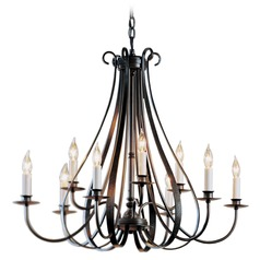 Hubbardton Forge Lighting Sweeping Taper Dark Smoke Chandelier