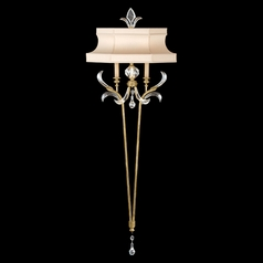 Fine Art Lamps Beveled Arcs Gold Leaf Sconce