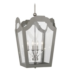 Robert Abbey Williamsburg Tayloe Polished Nickel Pendant Light