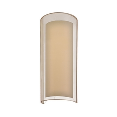 Modern Sconce Wall Light with Silver Shade in Black Brass Finish