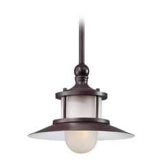 Quoizel Lighting Mini-Pendant Light with White Glass NA1510WT