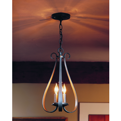 Hubbardton Forge Lighting Sweeping Taper Natural Iron Pendant Light