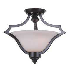 Craftmade Lighting Gabriella Matte Black Semi-Flushmount Light