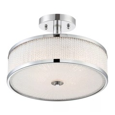 Lite Source Gianetta Chrome Semi-Flushmount Light