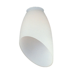 White Bowl / Dome Glass Shade - 2-1/4-Inch Fitter Opening