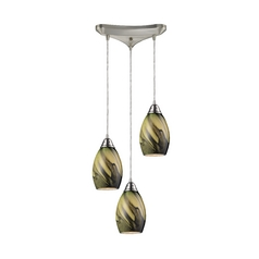 Modern Multi-Light Pendant Light with Green Glass and 3-Lights  sc 1 st  Destination Lighting & Modern Mini-Pendant Light with Green Glass | 31133/1PLN ... azcodes.com