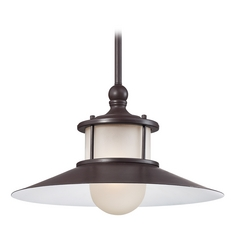 Quoizel Lighting Mini-Pendant Light with White Glass NA1514WT