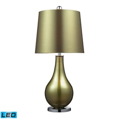 Dimond Lighting Sigma Green, Polished Nickel LED Table Lamp with Empire Shade