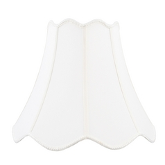 White Scalloped Lamp Shade with Spider Assembly