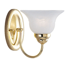 Livex Lighting Edgemont Polished Brass Sconce