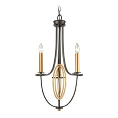 Elk Lighting Dione Oil Rubbed Bronze / Brass Mini-Chandelier