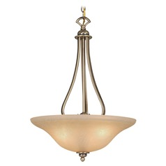 Monrovia Antique Brass Pendant Light with Bowl / Dome Shade by Vaxcel Lighting