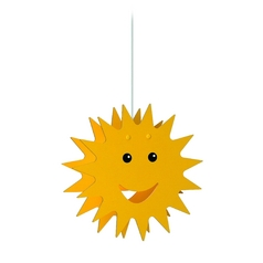 Philips Drum Pendant Light in Yellow Finish 755000648