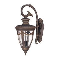 Outdoor Wall Light with Clear Glass in Belgium Bronze Finish