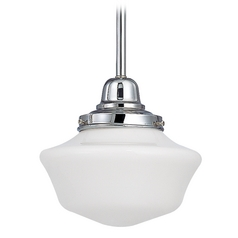Design Classics Lighting 8-Inch Retro Style Schoolhouse Mini-Pendant Light in Chrome Finish FB4-26 / GA8