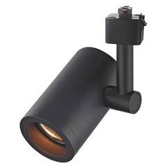 Cylinder Track Light Head - Black - GU10 Base