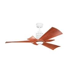 Kichler Lighting Frey White Ceiling Fan with Light