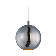 Polaris Polished Chrome LED Mini-Pendant Light with Globe Shade