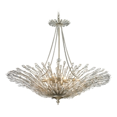 Crystal Pendant Light in Aged Silver Finish