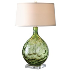 Uttermost Florian Green Glass Table Lamp