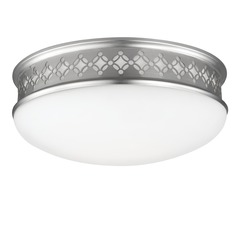 Feiss Lighting Devonshire Satin Nickel Flushmount Light