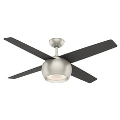 Casablanca Fan Co Valby Matte Nickel LED Ceiling Fan with Light