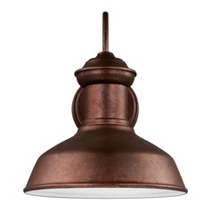 Sea Gull Lighting Fredricksburg Weathered Copper LED Barn Light