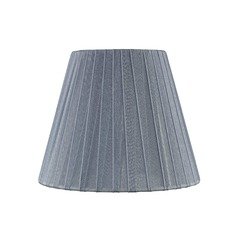 Clip-On Empire Pleated Opaque Slate Lamp Shade