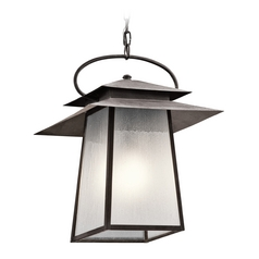Kichler Lighting Woodland Lake Weathered Zinc Outdoor Hanging Light