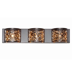 Inca 3-Light Wall Mount W/LED Bulb
