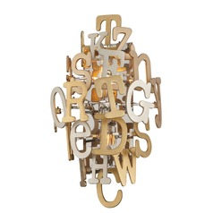 Corbett Lighting Media Polished Stainless with Multi-Leaf Sconce