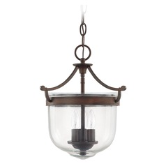 Capital Lighting Covington Burnished Bronze Pendant Light with Bowl / Dome Shade