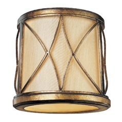 Gold Cylindrical Lamp Shade with Uno Assembly
